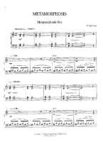 Philip Glass Metamorphosis One Free Downloadable Sheet