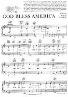 Wild image pertaining to free printable god bless america sheet music