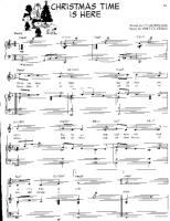 charlie brown christmas time is here free downloadable sheet music - Christmas Time Is Here Song