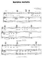 partition piano hakuna matata pdf