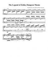 Zelda Dungeon Theme Piano Tabs 11